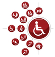 Disability icons vector image