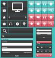 Flat web elements icons vector image