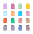 Set of colored tank top vector image