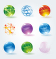 abstract 3d glossy spheres vector image