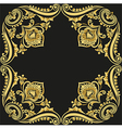 gold pattern black background vector image