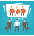 Teamwork business team vector image