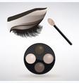 make-up applying eye shadow vector image