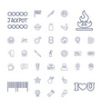 37 label icons vector image vector image