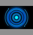 abstract blue energy circle technology vector image vector image