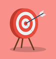 Arrow hitting target vector image vector image