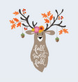 autumn greeting card invitation hand drawn vector image