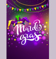 banner for carnival mardi gras garland flag vector image vector image