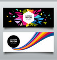 banners abstract colorful triangle geometric vector image