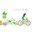 bicycle environment friendly transport website vector image vector image