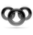 black cogwheel rack wheel pinion graphics vector image vector image
