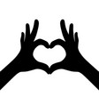 black girl hands making heart vector image