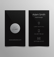 Business card template - dark sleek design