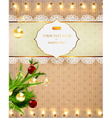Christmas Background with Fairy Lights vector image vector image
