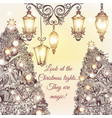christmas or new year greeting card vector image vector image