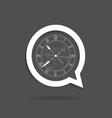 clock in speech bubble vector image vector image