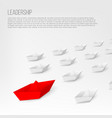creative of 3d red paper ship vector image