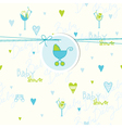 Cute baby shower card vector image