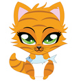 Cute little red kitten vector image vector image