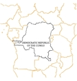 Democratic Republic of the Congo sketch map vector image