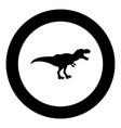 dinosaur tyrannosaurus t rex icon black color in vector image vector image