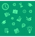 education background green Pattern vector image