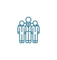 encouraging employees linear icon concept vector image vector image