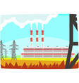 energy producing station electricity generation vector image vector image