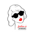fashion design sketch woman in style pop art vector image
