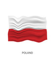 flag poland vector image