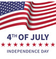 fourth of july united stated independence day vector image vector image