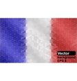 French flag made of geometric shapes vector image vector image