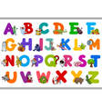 funny alphabet for kindergartens vector image vector image