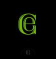 g e green letters monogram vector image