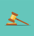 gavel judge in a flat style vector image
