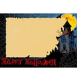 Halloween Card With Web vector image