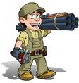 Handyman Plumber Khaki vector image vector image