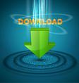 icon download vector image vector image