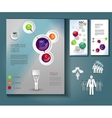 layout of brochures and flyers vector image vector image
