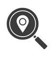 location search glyph icon vector image vector image