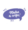 make a wish sticker for social media content hand vector image vector image