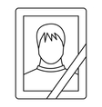 Memory portrait icon outline style vector image vector image