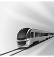 Modern high speed train 1 vector image vector image