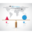 Modern infographic Balance for business concept vector image vector image