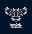 modern owl bird mascot logo vector image vector image