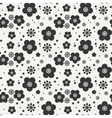 Monochrome abstract seamless floral pattern