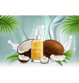 natural coconut oil poster banner template vector image vector image