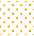 orange birch leaf pattern seamless vector image