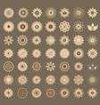 pack of 49 transparent light vintage abstract vector image vector image