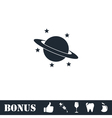 Planet icon flat vector image